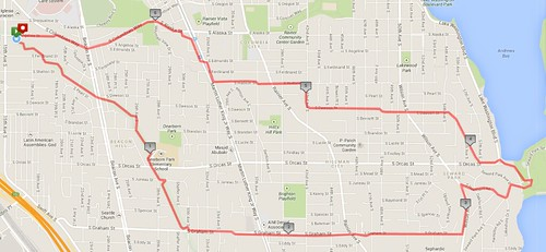 Today's awesome walk, 6.72 miles in 2:06 (436 ft gain) by christopher575