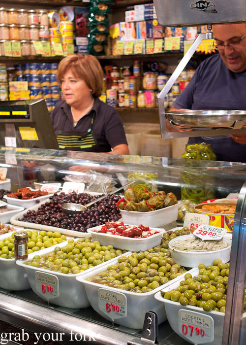 Olives at La Boqueria, Barcelona