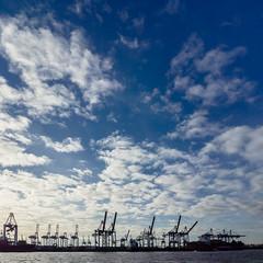 The sky above Hamburg