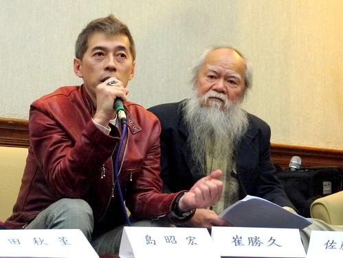 左為律師島昭宏,右為前立委林哲夫