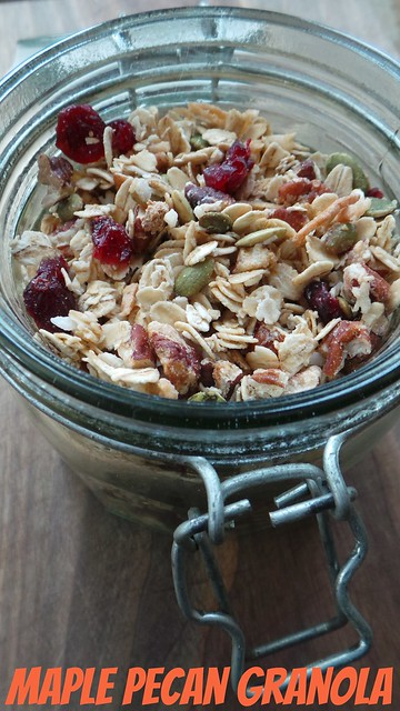 Maple pecan cranberry granola recipe