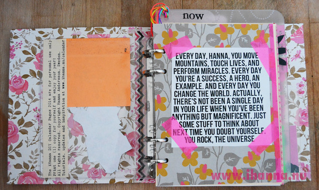 DIY Planner: Personal Inspiration and note from the Universe