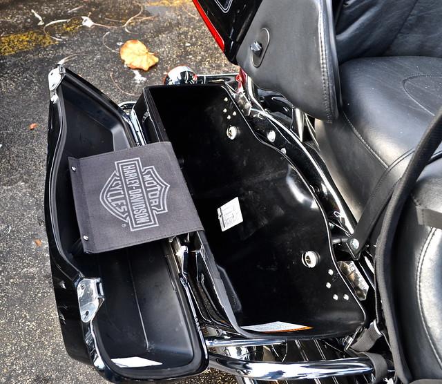Harley Davidson bag space