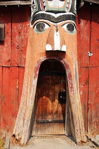 Longhouse in Bella Coola, Bella Coola Valley, Coast of Central British Columbia, Canada