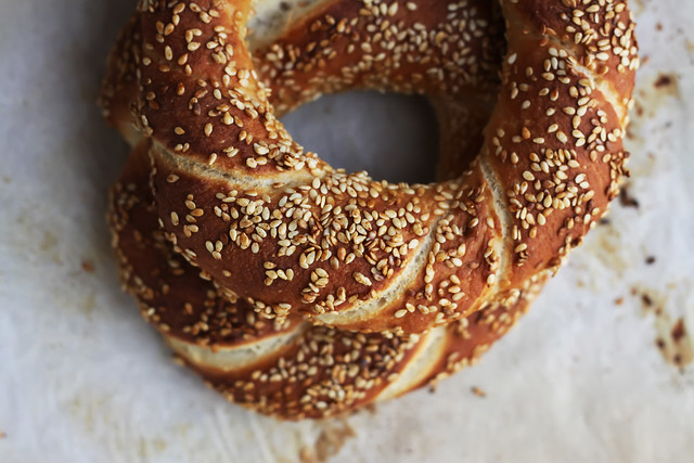 Simit Sesame Bread Ring by Olga Irez of Delicious Istanbul