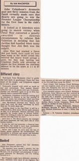 difficult reading (for all sorts of reasons!) of match report Hearts 1 Aberdeen 1, 20 April 1986