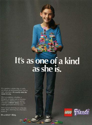 LEGO Friends 2013 print magazine ad