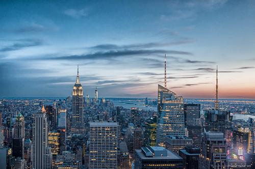 new york longexposure newyork night dusk manhattan empirestatebuilding osch 2013 kirgisistan