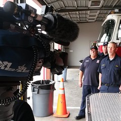 Talk to Crandall Fire Dept. Today for our Six o'clock @news @photojournalist #photojournalist