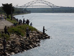 Fisherman along the Cape Cod Canal