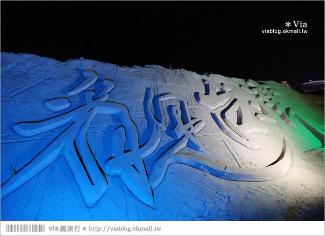 【2014台灣燈會在南投】南投沙雕燈會~夜間點燈好浪漫!還有精彩光雕秀5