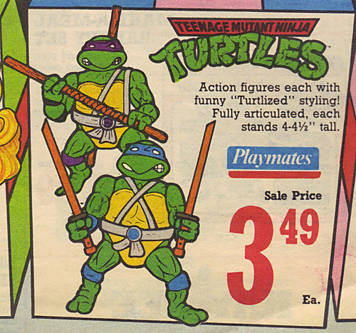 KAY•BEE TOY STORES :: Christmas in October pg.1 // ..TMNT toys isolated  (( OCTOBER,8 1989 ))