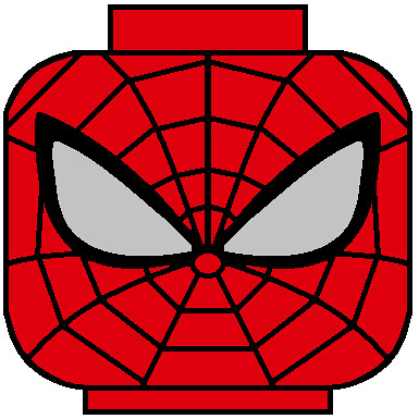 LEGO Superior Spiderman head decal | Flickr - Photo Sharing!