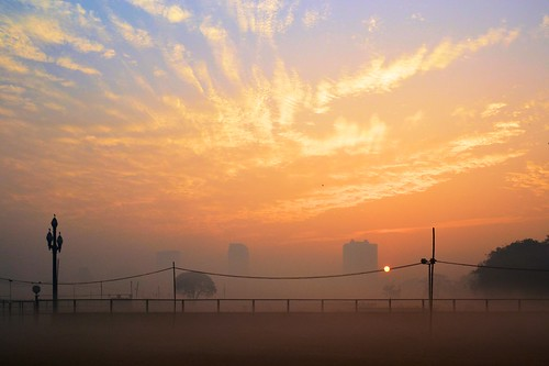 city morning winter india mist misty sunrise landscape cityscape artistic kolkata bengal calcutta maidan শীতেরসকাল