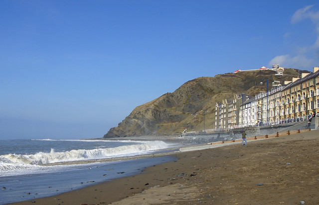 Aberystwyth looking towards Constitution hill