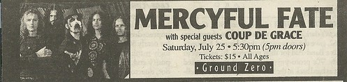 07/25/98 Mercyful Fate/ Coup de Grace @ Ground Zero, Minneapolis, MN