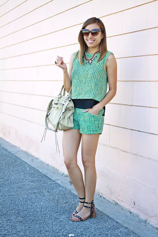 lucky magazine contributor,fashion blogger,lovefashionlivelife,joann doan,style blogger,stylist,what i wore,my style,fashion diaries,outfit,ami clubwear,shop the trends,english rose,short suit,tweed,classic,balenciaga,fashion climaxx2,fashion for all,st. patricks day,shop prima donna