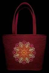 Floral Kaleidoscope Tote