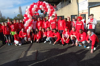 Sainsbury's sports relief run in Dulwich