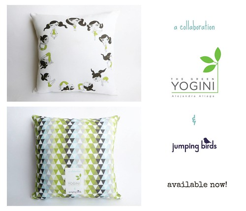 The Green Yogini pillows!