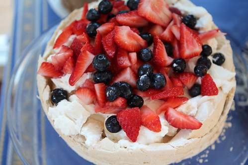 Berry Pavlova with Whipped Cream