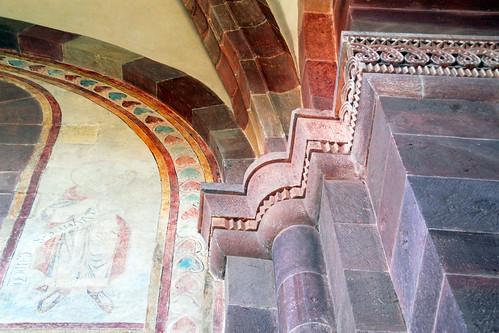 Kloster Klosterkirche Lobenfeld Odenwald Kraichgau Klostergarten Kirche romanisch Wandmalereien mittelalterlich