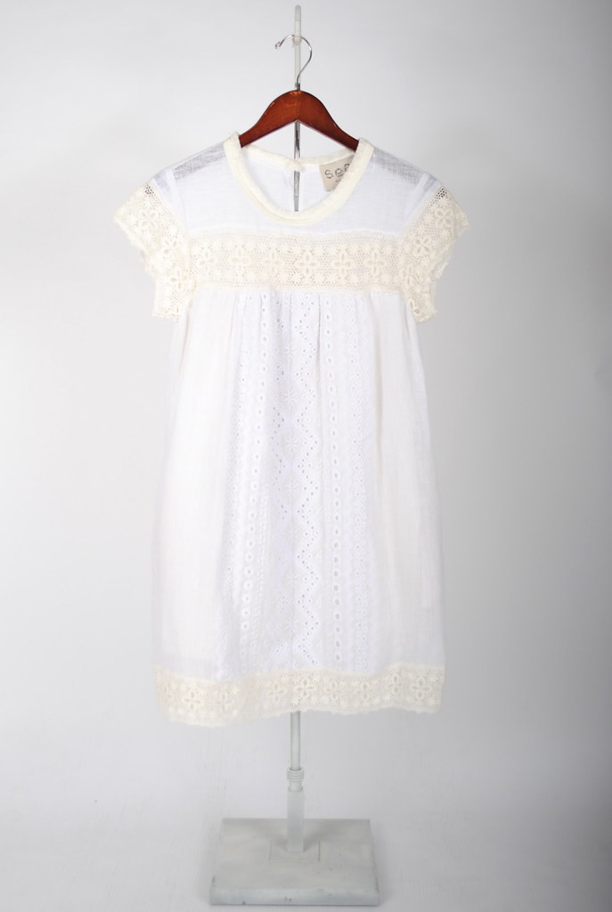 Broderie Anglaise Linen Blend Dress