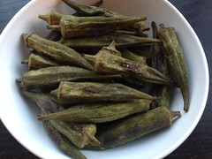 Roasted okra on twothirtyate.con