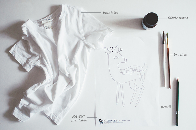 KIDDO TEE DIY / fawn - supplies