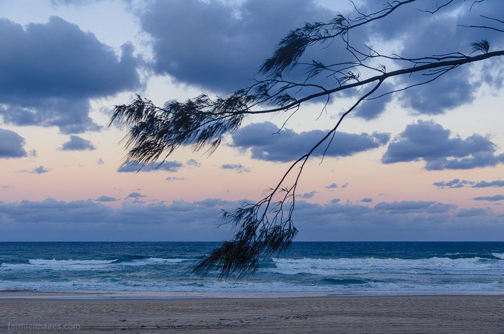 Pacific Ocean dusk