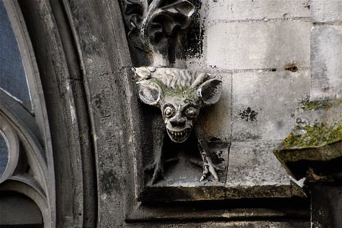 GREMLIN ? NOT ! =XV-XVIth Century SCULPTED GROTESQUE FROM THE OUTSIDE NAVE:EGLISE SAINT JEAN-NORMANDY-FRANCE Feb 13th 2015