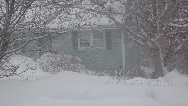Blizzard conditions again in Salem, MA - Jan. 2015