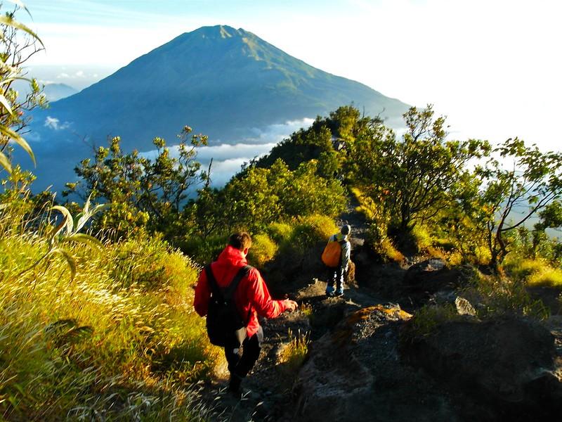 Going downhill from Mount Merapi, Jogjakarta