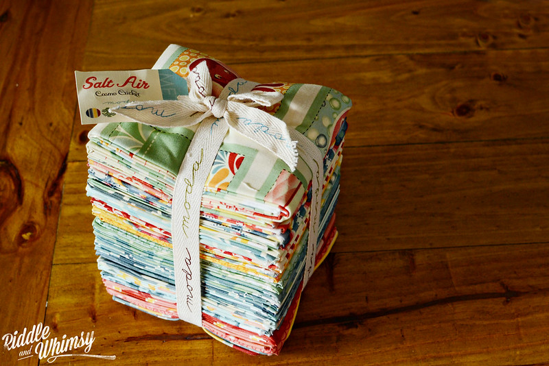 Riddle and {Whimsy} Feb Stash Report 1: Salt Air by Cosmo Cricket (fat quarter bundle)