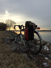 #bikedc morning commute past the Potomac
