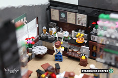 Lego MOC Starbucks Cafe (11)