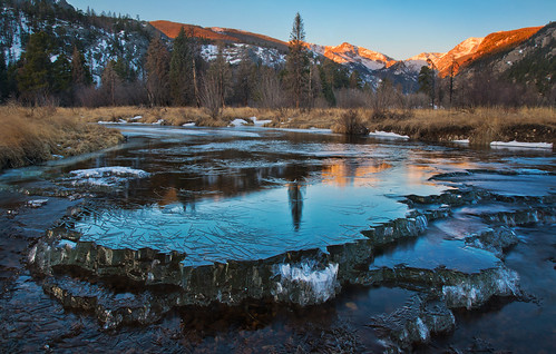 ice sunrise frozen colorado rockymountainnationalpark morainepark bigthompsonriver canonef24105mmf4l canon6d