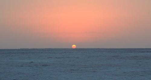 sunset india gujarat kutch rann