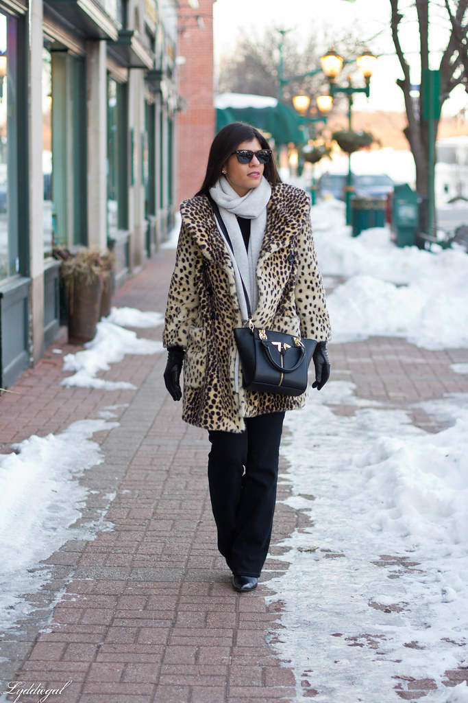 leopard coat, flared jeans, grey scarf-6.jpg