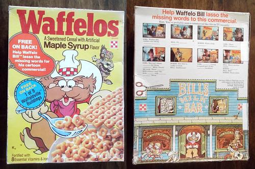 1979 Ralston Waffelos Cereal Box