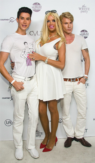 Model/Actress Sandrine Chelly with Star friends ,Justin Jedlica (also known as