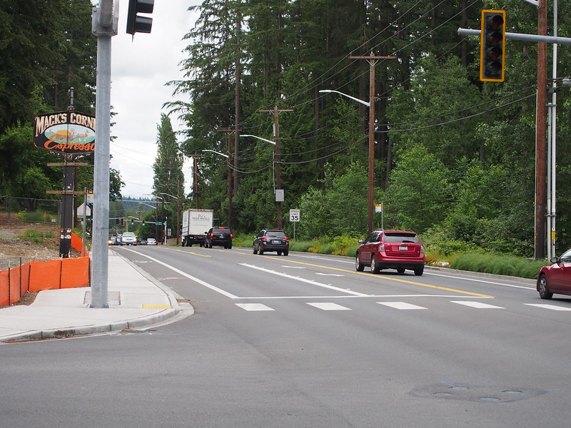 Woodinville–Duvall Road Upgrade: Last time I was out there, this section of road had neither bike lanes nor sidewalks.