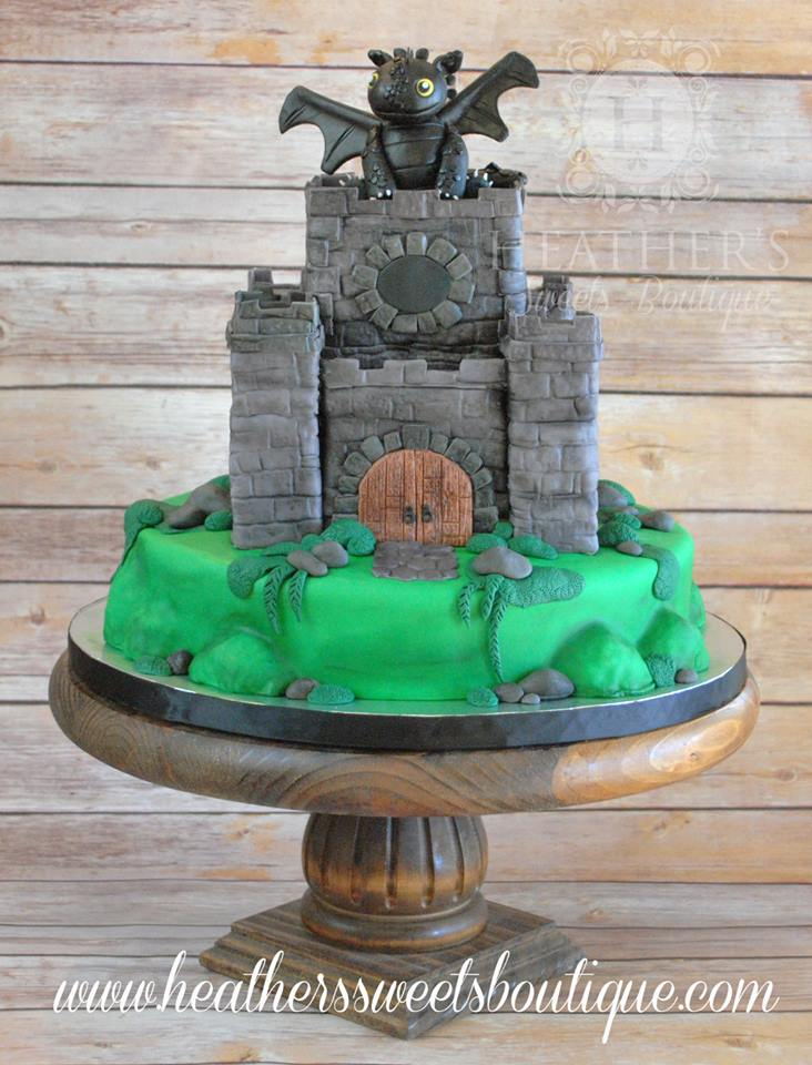 How to Train your Dragon Cake by Heather Chamberlin of Heather's Sweets Boutique