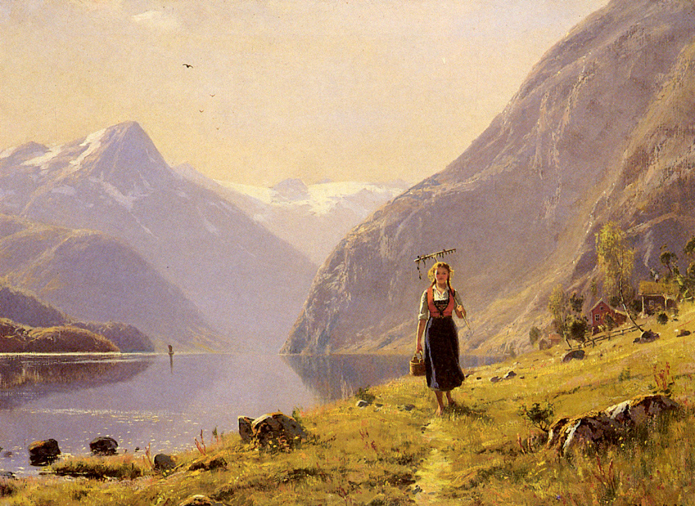 By the Fjord by Hans Dahl
