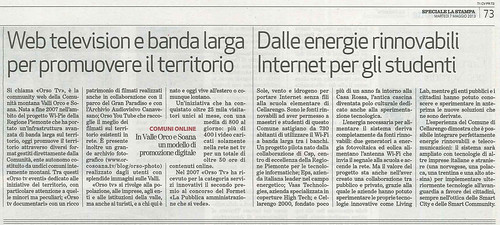 Web television e banda larga per promuovere il territorio