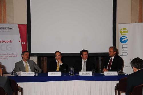 Wolfgang Pribyl, Reinhard Ploss, Axel Freyberg und Alois Ferscha