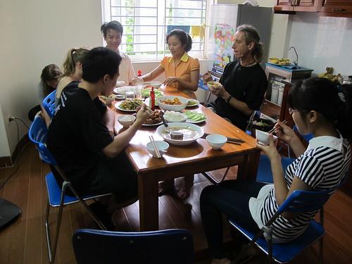 Volunteer lunch in Hanoi, Vietnam