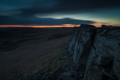 Last Light at Stanage