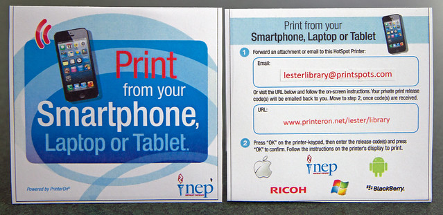 Print from your Smartphone, Laptop or Tablet