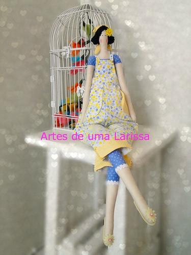 Boneca Tildas by Artes de uma Larissa